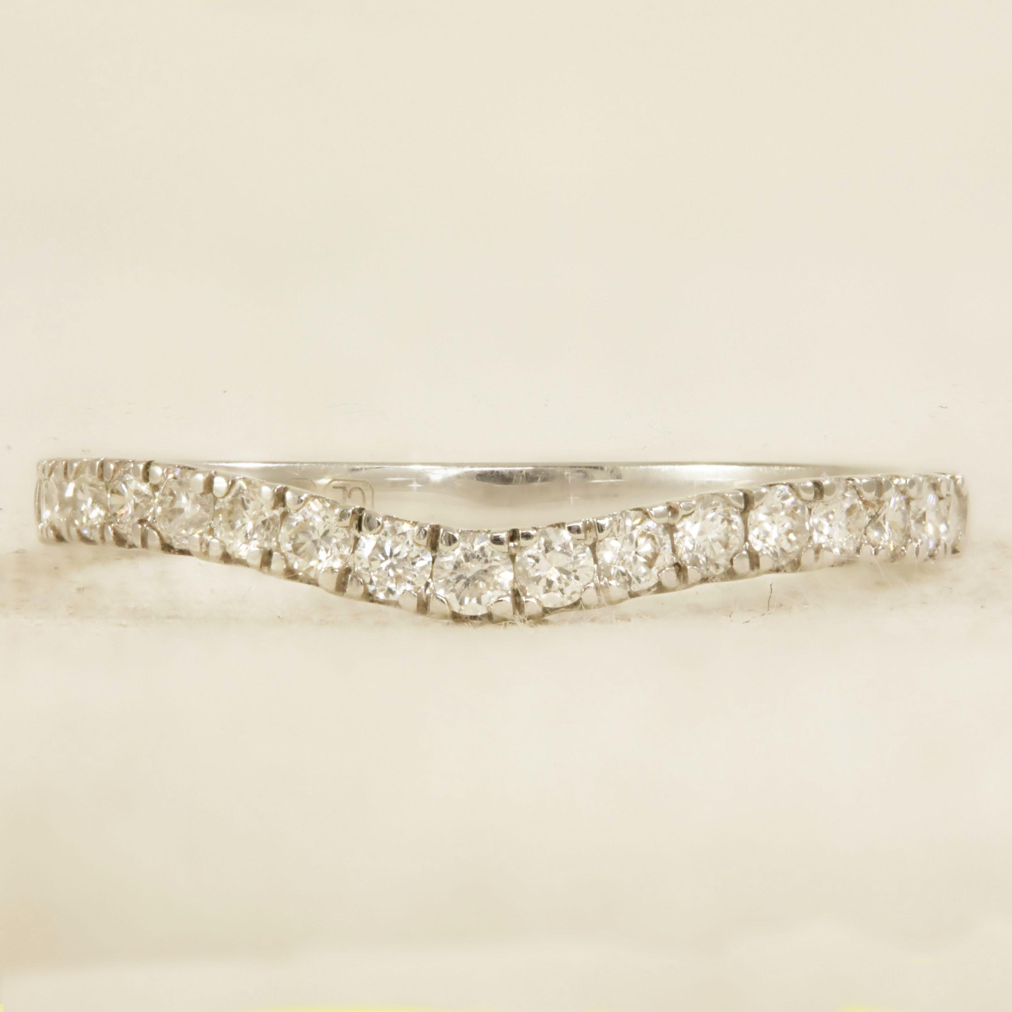 Soft Curve diamond ring
