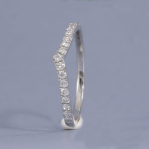 diamond wishbone ring