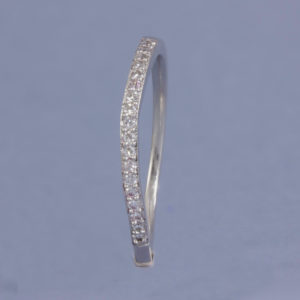 diamond wedding ring with slight curve