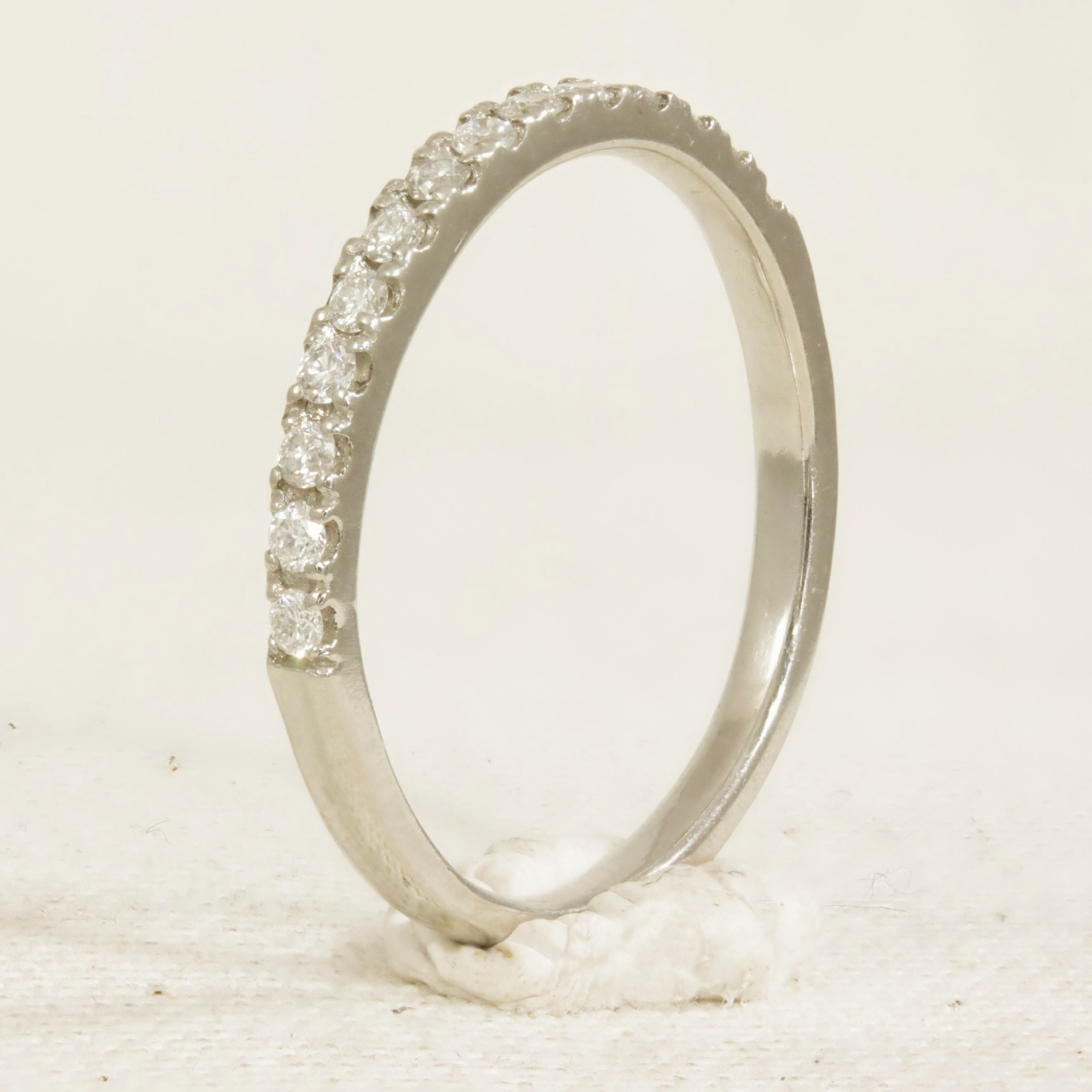 Half Set Platinum Diamond Ring