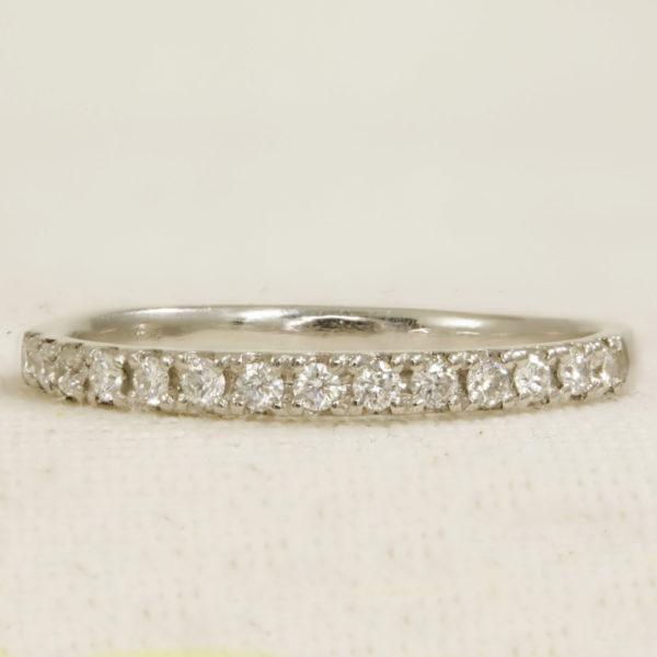 Half Set Platinum Diamond Ring