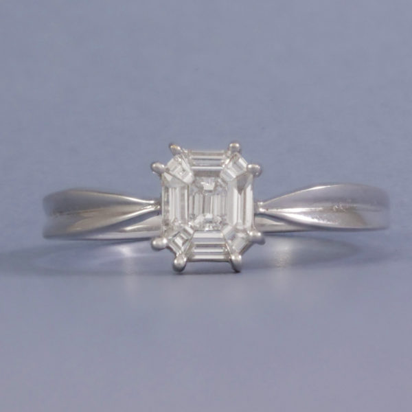 illusion set diamond ring