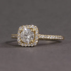 18k yellow gold diamond halo
