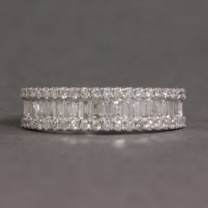 Triple row diamond eternity ring