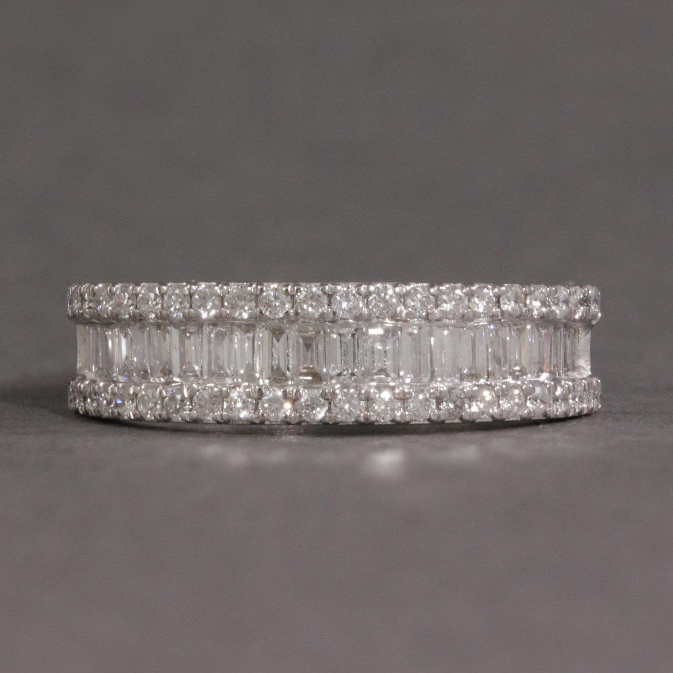 Triple Row Diamond Ring