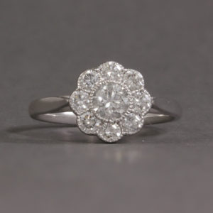 flower shaped diamond cluster