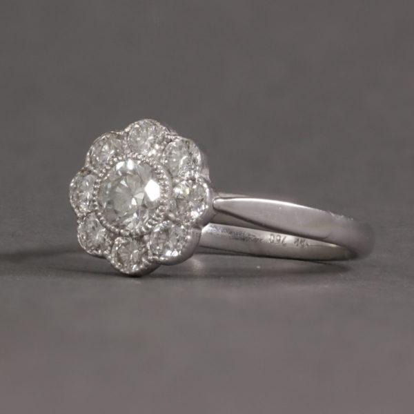 flower shaped diamond cluster