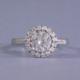 Moissanite Halo engagement ring