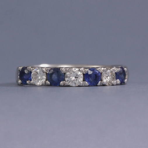 sapphire and diamond eternity ring