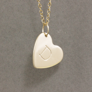 solid gold heart necklace