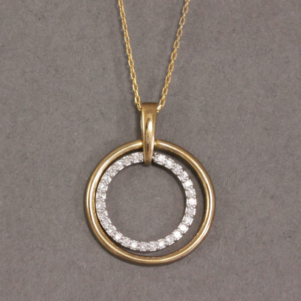 9k gold diamond necklace